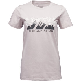 Black Diamond Rise And Climb - Camiseta manga corta Mujer - blanco